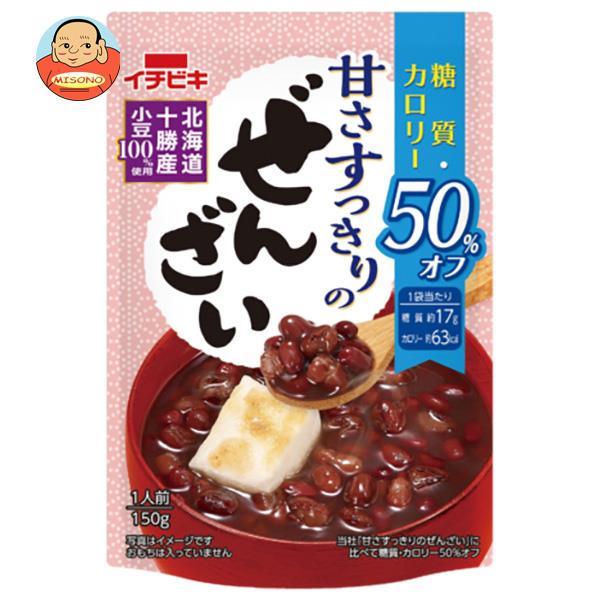 イチビキ 甘さすっきりの糖質・カロリー50%オフぜんざい 160g×20(10×2)袋入