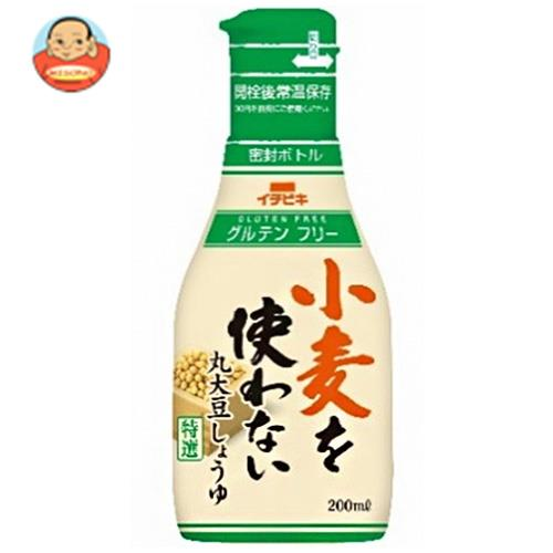 イチビキ 小麦を使わない 丸大豆しょうゆ 200mlペットボトル×8本入