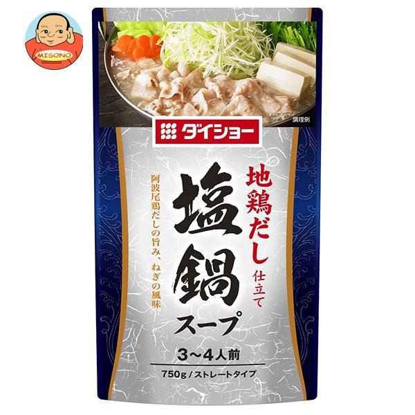 ダイショー 地鶏だし仕立て 塩鍋スープ 750g×10袋入