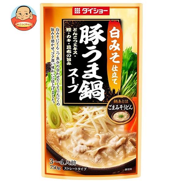 ダイショー 白みそ仕立て 豚うま鍋スープ 750g×10袋入