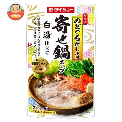 ダイショー 鮮魚亭 寄せ鍋スープ 白湯仕立て 750g×10袋入