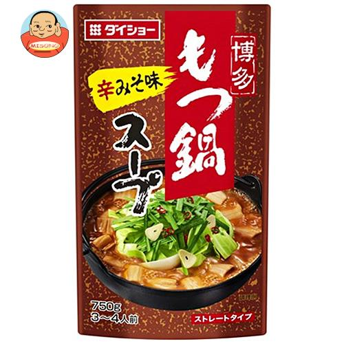ダイショー 博多もつ鍋スープ 辛みそ味 750g×10本入