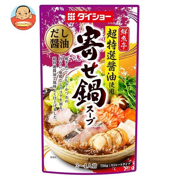 ダイショー 鮮魚亭 超特選醤油使用寄せ鍋スープ だし醤油 750g×10袋入