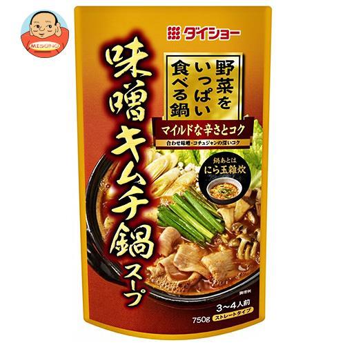 ダイショー 野菜をいっぱい食べる鍋 味噌キムチ鍋スープ 750g×10袋入