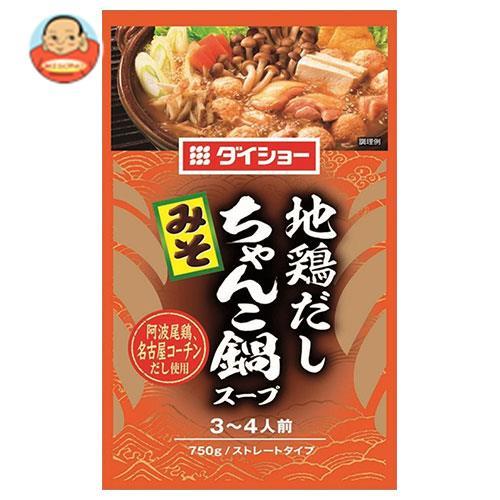 ダイショー 地鶏だしちゃんこ鍋スープ みそ 750g×10袋入