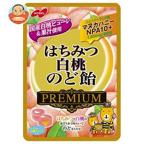 ノーベル製菓 はちみつ白桃のど飴プレミアム 80g×6袋入