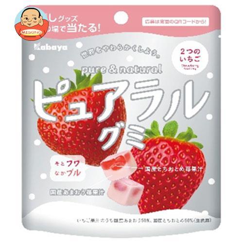 カバヤ ピュアラルグミ あまおう苺 58g×8袋入