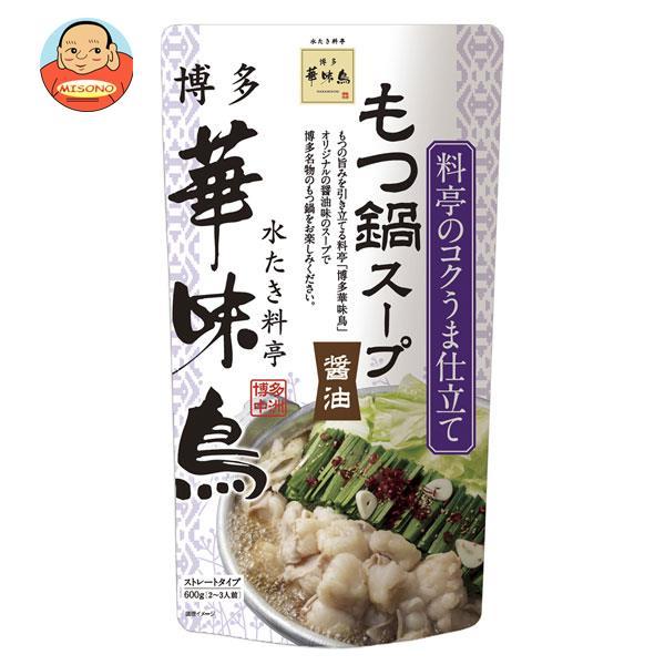 トリゼンフーズ 博多華味鳥 もつ鍋スープ(醤油) 600g×12袋入