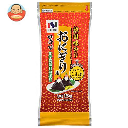 ニコニコのり 韓国味のり おにぎり用 (3切16枚)×10袋入