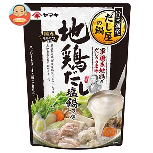 ヤマキ 軍鶏系 地鶏だし塩鍋つゆ 700g×12袋入