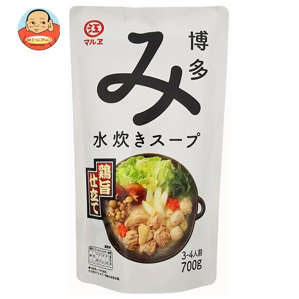 マルエ醤油 博多水炊きスープ 鶏旨仕立て 700g×12袋入