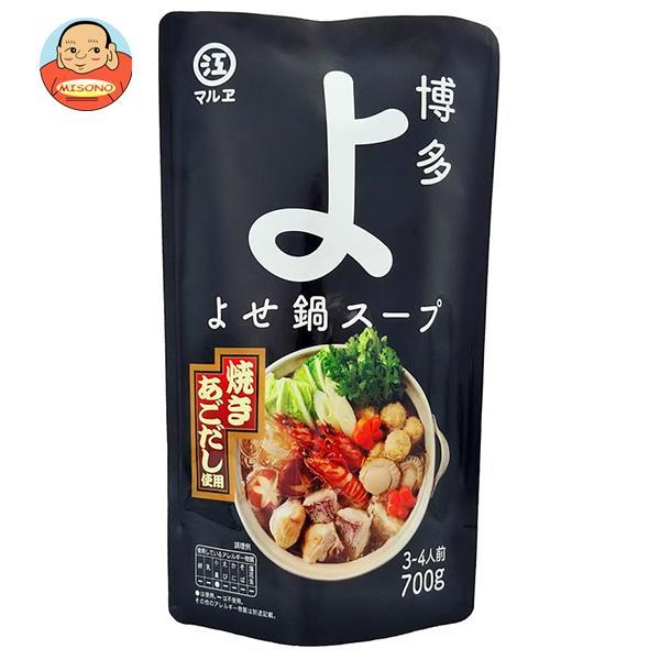 マルエ醤油 博多よせ鍋スープ 700g×12袋入