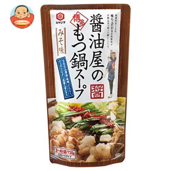 宮島醤油 醤油屋のもつ鍋スープみそ味 720g×10袋入