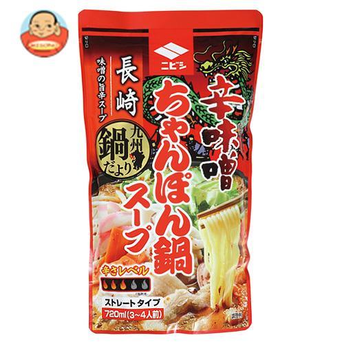 ニビシ醤油 辛味噌ちゃんぽん鍋スープ 720ml×10袋入