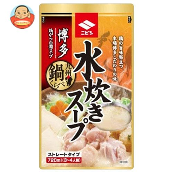 ニビシ醤油 博多水炊きスープ 720mlパウチ×10袋入