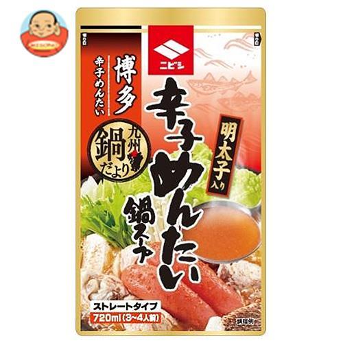 ニビシ醤油 博多辛子めんたい鍋スープ 720ml×10袋入