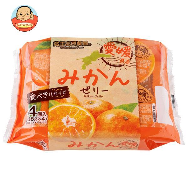 和歌山産業 蔵王高原農園 フルーツゼリー 6パック 愛媛県産みかん 408g(68g×6)×6袋入