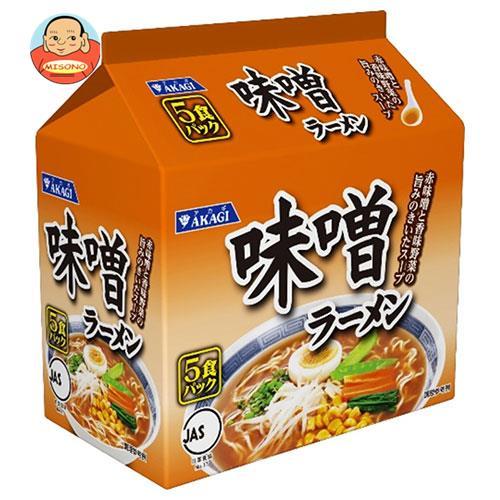 大黒食品工業 アカギ 味噌ラーメン 5食パック×6袋入