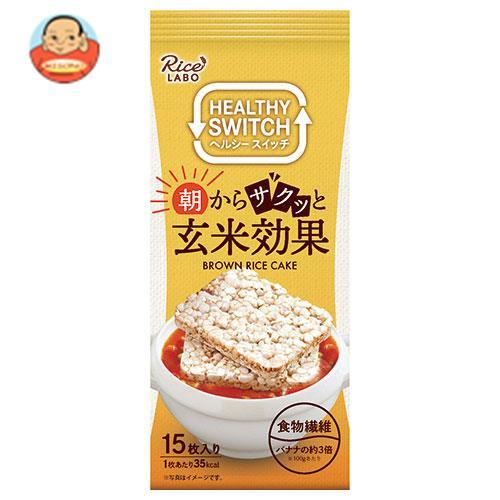 幸福米穀 カラダに玄米 ブラウンライスケーキ 15枚×12袋入