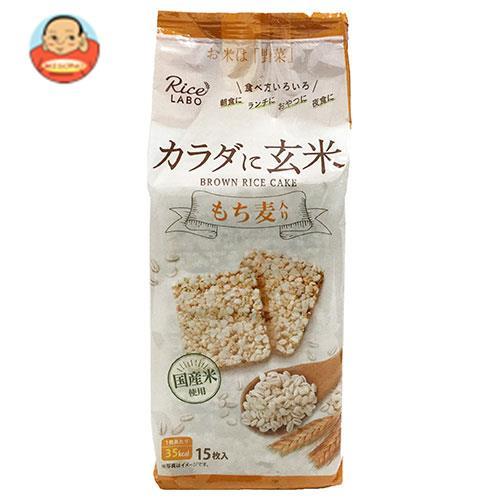 幸福米穀 ブラウンライスケーキ(もち麦) 15枚×12(4×3)袋入