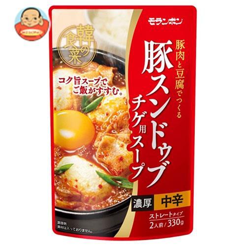 モランボン 韓の食菜 豚スンドゥブチゲ用スープ 330g×10袋入