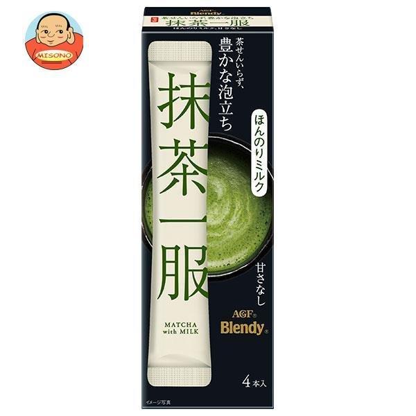 AGF ブレンディ 抹茶一服 ミルク少々 (11g×4本)×12箱入
