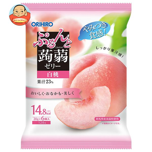 オリヒロ ぷるんと蒟蒻ゼリー ピーチ 20gパウチ×6個×24袋入