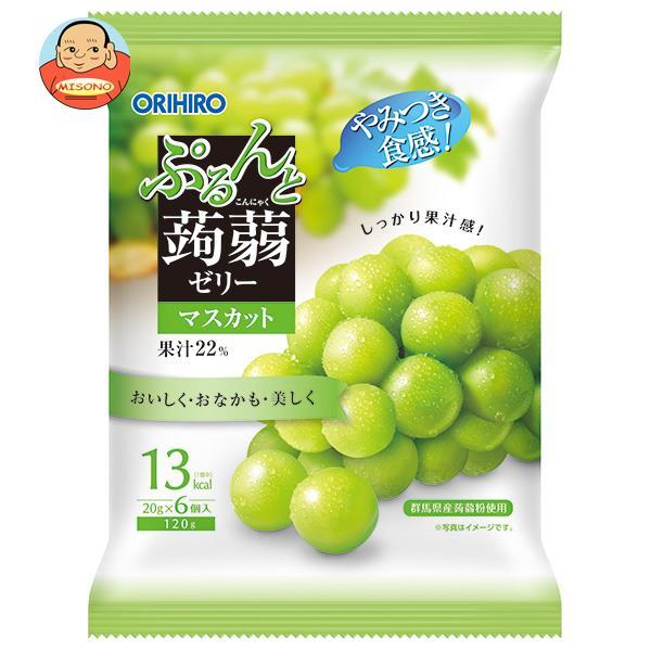 オリヒロ ぷるんと蒟蒻ゼリー マスカット 20gパウチ×6個×24袋入