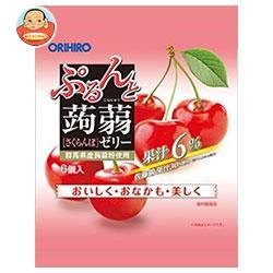 オリヒロ ぷるんと蒟蒻ゼリー さくらんぼ 20gパウチ×6個×24袋入
