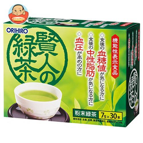 オリヒロ 賢人の緑茶【機能性表示食品】 (7g×30本)×1個入