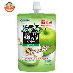 オリヒロ ぷるんと蒟蒻ゼリー 青りんご 130gパウチ×48本入