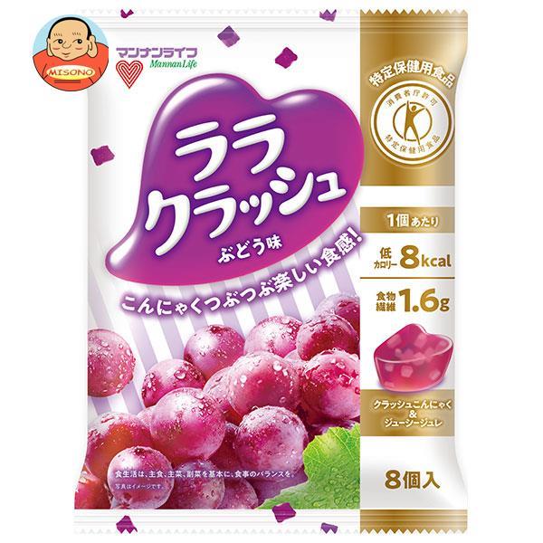 マンナンライフ 蒟蒻畑 ララクラッシュ ぶどう味 24g×8個×12袋入