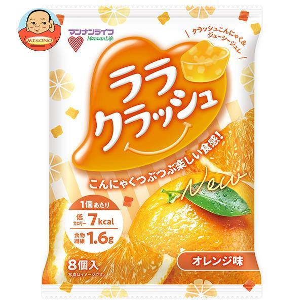 マンナンライフ 蒟蒻畑 ララクラッシュ オレンジ味 24g×8個×12袋入