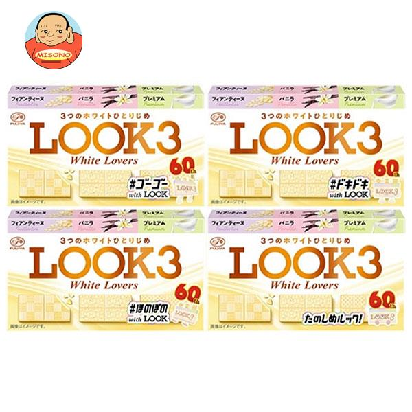 不二家 LOOK3(ルック3)ホワイトラバーズ 43g(9粒)×10箱入