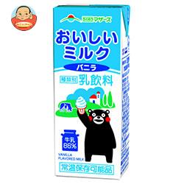 らくのうマザーズ おいしいミルクバニラ 200ml紙パック×24本入