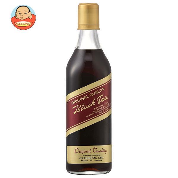 ジーエスフード GS ブラックティー 加糖 500ml瓶×12本入
