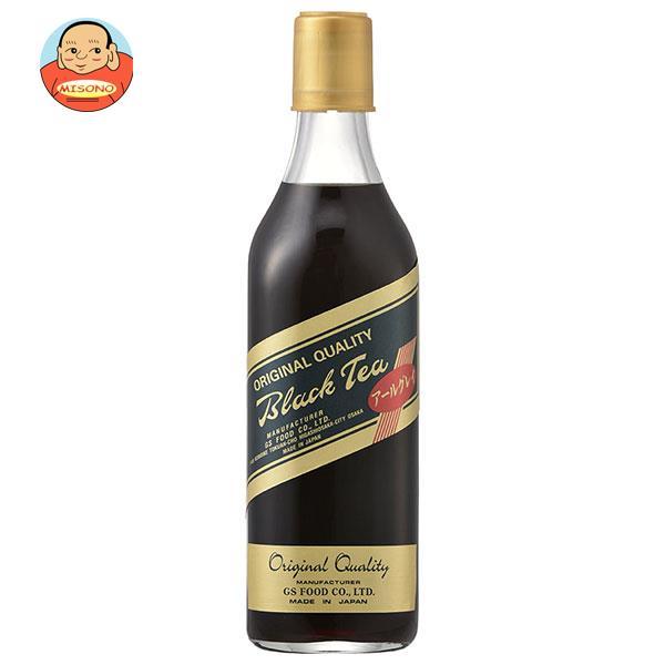 ジーエスフード GS ブラックティー アールグレイ 500ml瓶×12本入