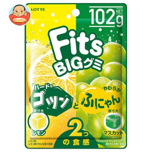 ロッテ Fit's グミ ゴツンとふにゃん レモン&マスカット 102g×10個入