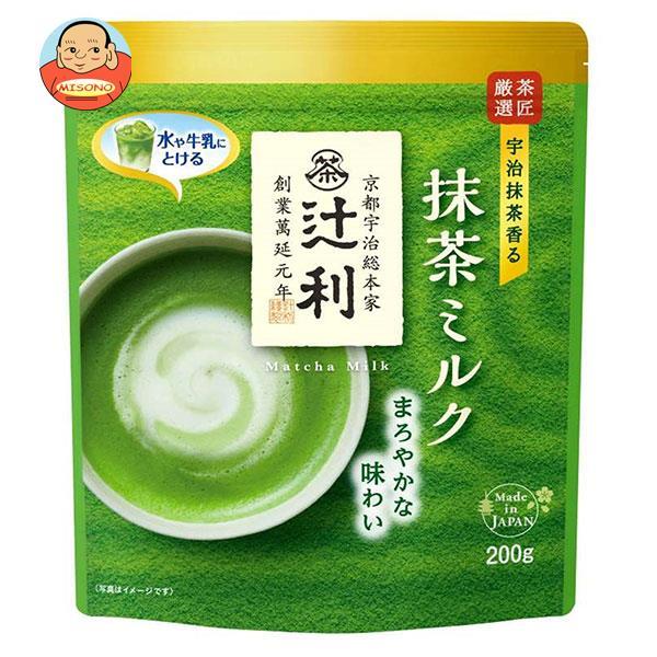 片岡物産 辻利 抹茶ミルク やわらか風味 200g×12袋入