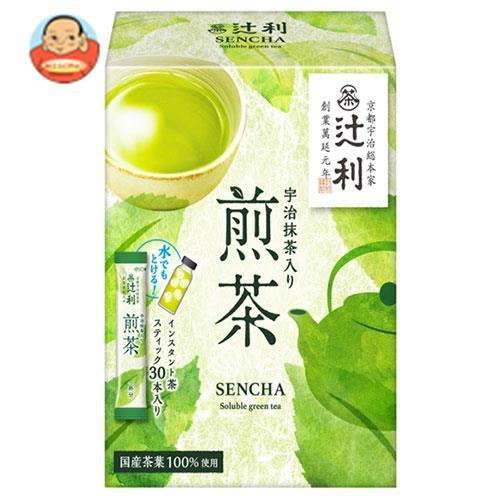 片岡物産 辻利 宇治抹茶入り煎茶 (1.0g×30本)×24(6×4)箱入