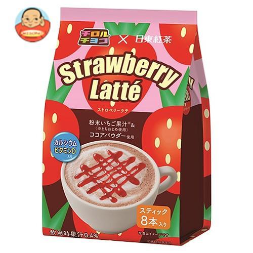 三井農林 チロルチョコ×日東紅茶 ストロベリーラテ 13.5g×8本×24個入