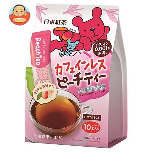 三井農林 日東紅茶 カフェインレス ピーチティー 11g×10本×24個入