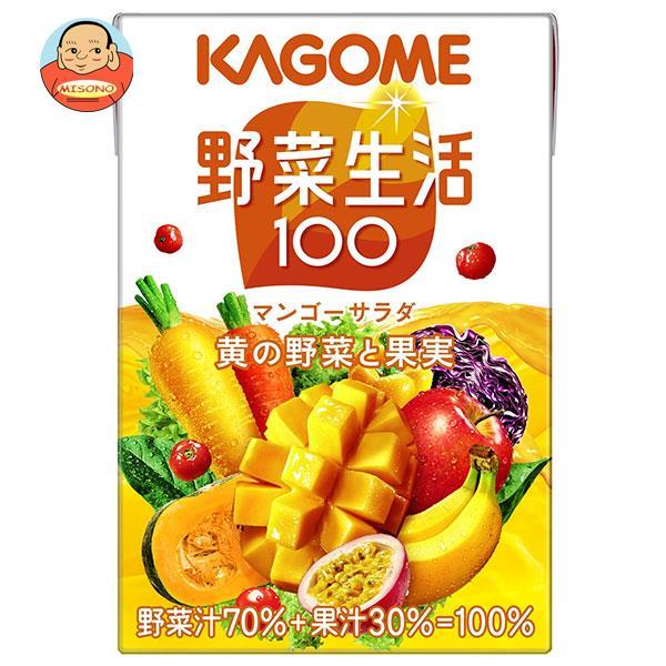 カゴメ 野菜生活100 マンゴーサラダ 100ml紙パック×36本入