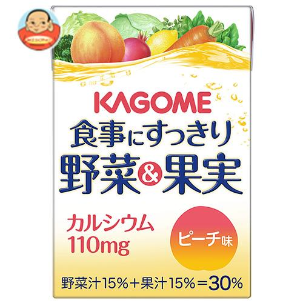 カゴメ 食事にすっきり野菜&果実カルシウム ピーチ味 100ml紙パック×36本入
