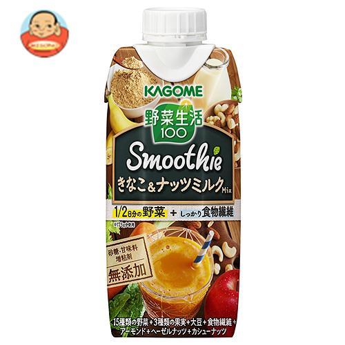 カゴメ 野菜生活100 Smoothie(スムージー) きなこ&ナッツミルクMix 330ml紙パック×12本入