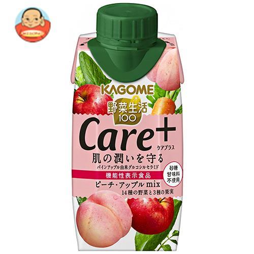カゴメ 野菜生活100 Care+(ケアプラス) ピーチ・アップルmix 195ml紙パック×12本入