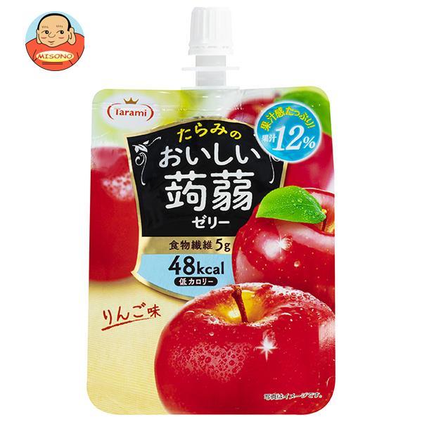 たらみ おいしい蒟蒻ゼリー りんご味 150gパウチ×30(6×5)本入