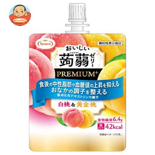 たらみ おいしい蒟蒻ゼリーPREMIUM+ 白桃&黄金桃 150gパウチ×30(6×5)本入