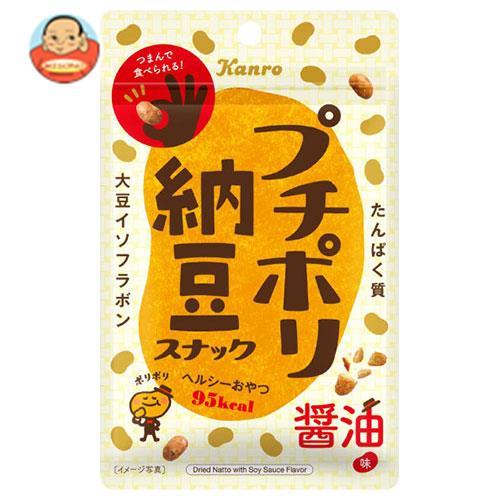 カンロ プチポリ納豆 スナック醤油味 20g×10袋入