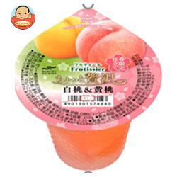 マルハニチロ フルティシエ ちょっと贅沢 白桃&黄桃 205g×24(6×4)個入